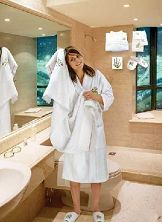 Terry bath robe