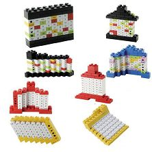 Toy bricks calendar